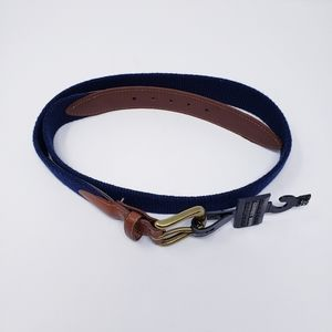Geoffrey Beene Fabric and Leather Belt